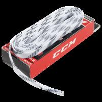 Шнурки для хоккейных коньков CCM Proline Waxed White 274 см