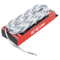 Шнурки для хоккейных коньков CCM Proline Waxed White 304 см