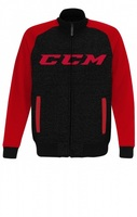 Толстовка-бомбер CCM Track Jacket DGrey/Red взрослая