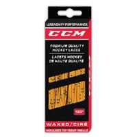 Шнурки для хоккейных коньков CCM Proline Waxed Yellow 274 см